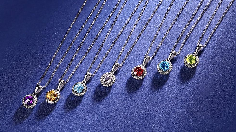 925 Silver Garnet Pendant