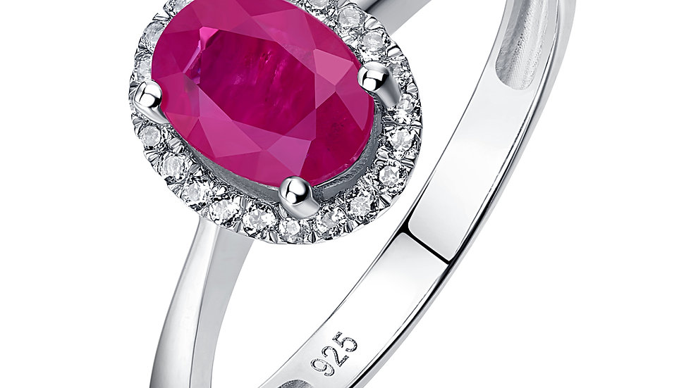 925 Silver Ruby Ring