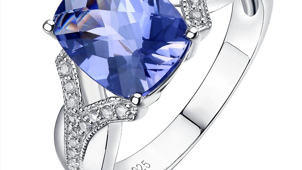 925 Silver Lolite Ring