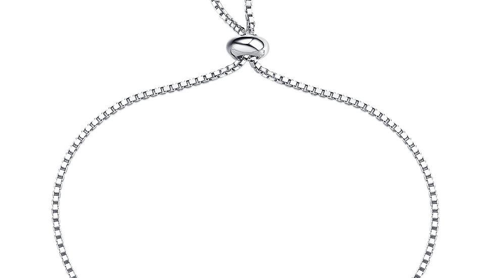 925 Silver Aquamarine Bracelet