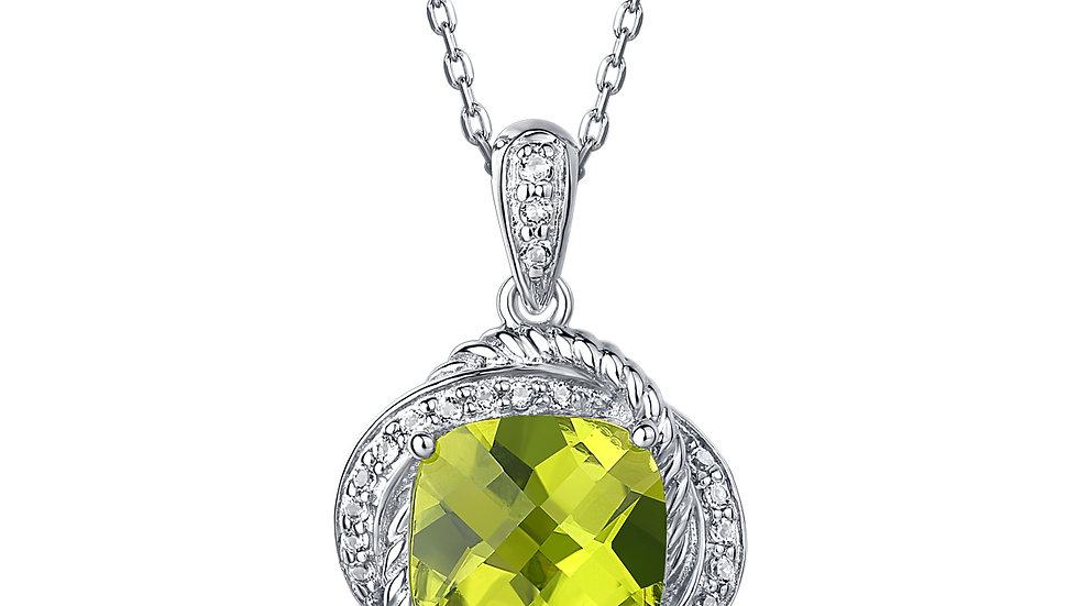 925 Silver Peridot Pendant
