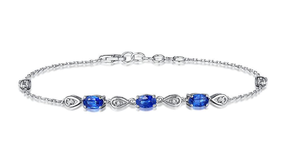 925 Silver Sapphire Bracelet