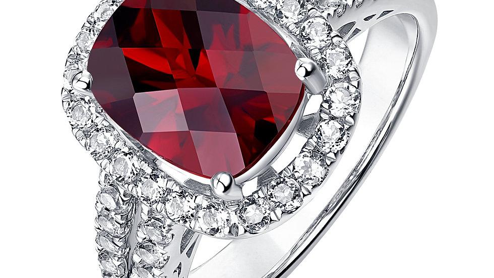 925 Silver Garnet Ring