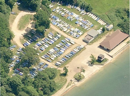 Weston club house and dinghy park