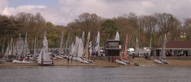 Weston Sailing Club from Southampton Water