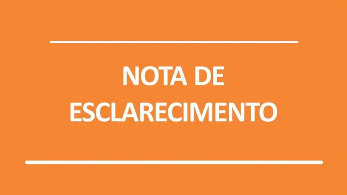 SOBRE O PROJETO DE FINANCIAMENTO DA PREFEITURA DE CERES: NOTA DE ESCLARECIMENTO