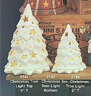 SMALL XMAS TREE LIGHT & BASE, CLAY MAGIC