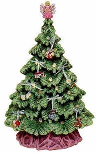 SIERRA SPRUCE TREE TOP 7''H & base