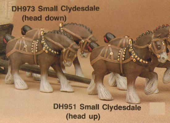 SMALL CLYDESDALE (HEAD UP) 4.5''L, DOC H