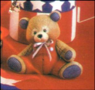 SMALL STUFFED BEAR SITTING 4.5''H,