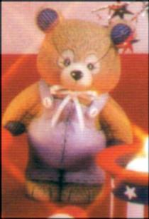 SMALL STUFFED BEAR STANDING,