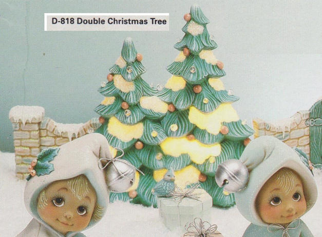 DOUBLE DECO XMAS TREES, DONAS D818