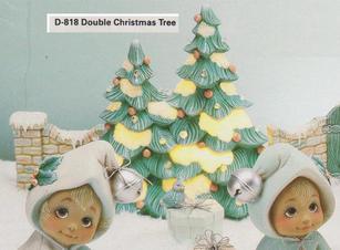 DOUBLE DECO XMAS TREES, DONAS D818