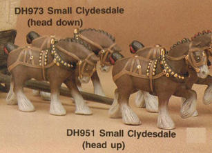 SMALL CLYDESDALE (HEAD DOWN) 4.5''H,