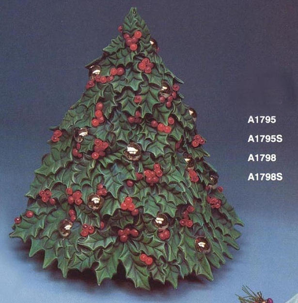 14.5''H HOLLY XMAS TREE