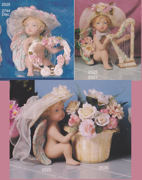 CHERUB HOLDING FLOWER POT, WINGS, ARMS &