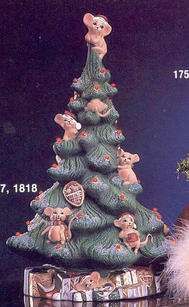 XMAS TREE WITH MICE  - BASE 16.5''H