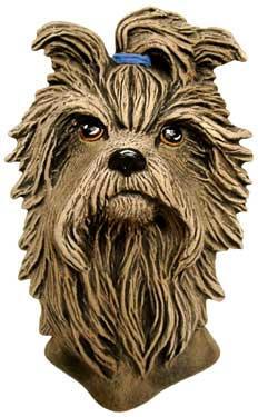 SMALL YORKIE DOG HEAD 4.25''H,