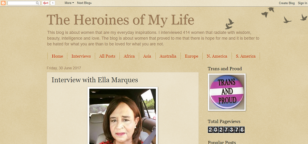 Ella Marques at the heroine of my life