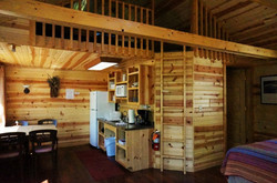 Crow Cabin Kitchen and Loft Access