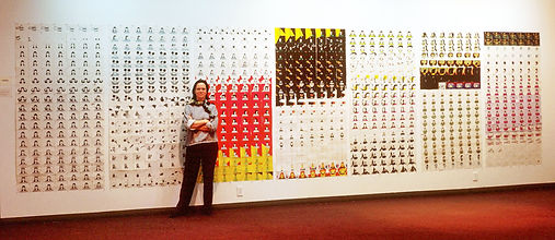 Joanna Priestley with hand painted cards from Voices (Cal Arts, 1985)