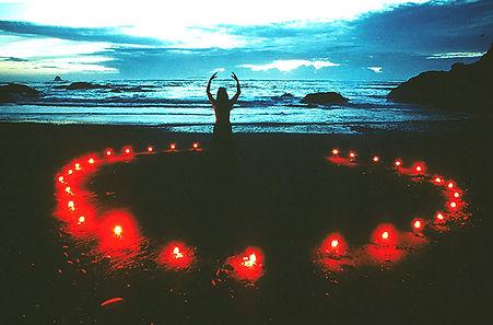 """Ruby Beach Illumination"" (1986) Olympic National Forest, WA, by Joanna Priestley. Photo by R. Dennis Wiancko."