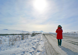 Joanna on the Dempster Highway