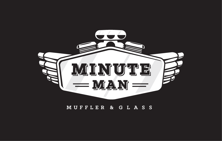 Minute Man Muffler Shop Logo Design