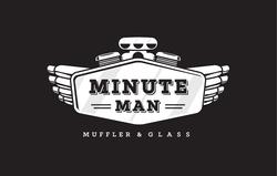 Minute Man Muffler Shop Logo Design