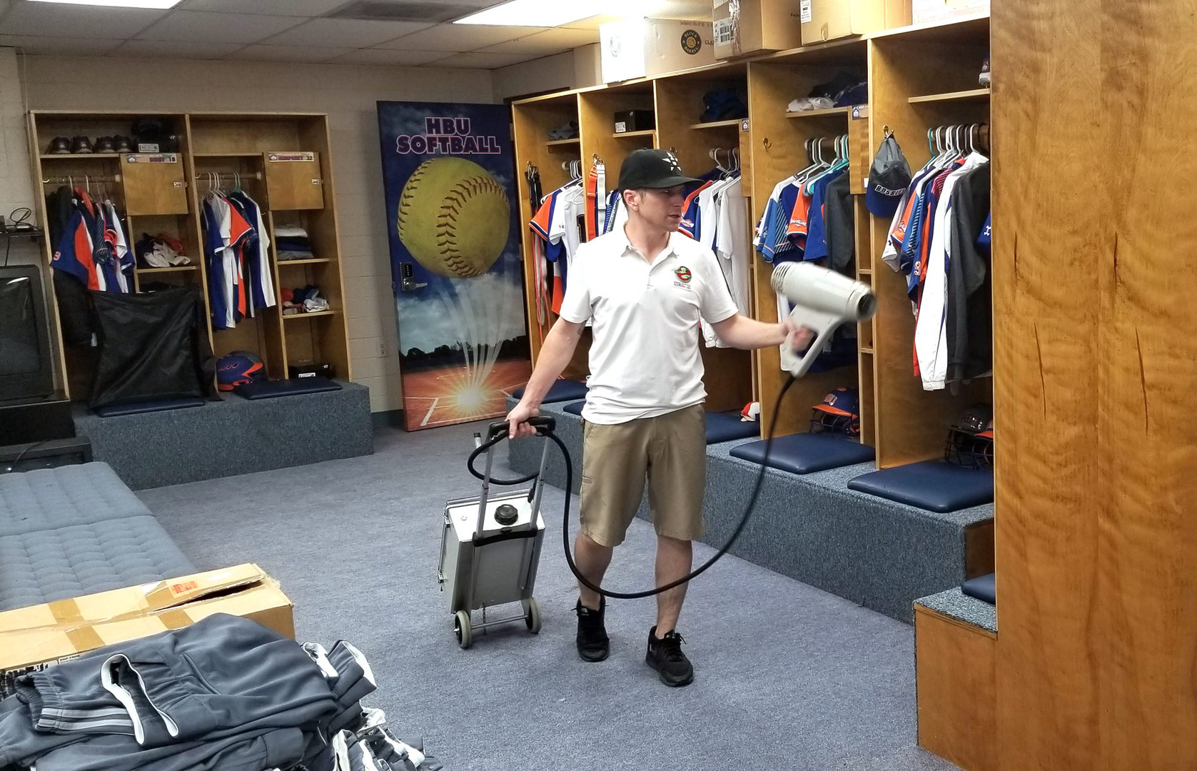 HBU-Softball-Locker-room-sanitation-spra