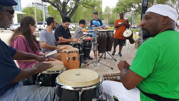drum jam-drum circle
