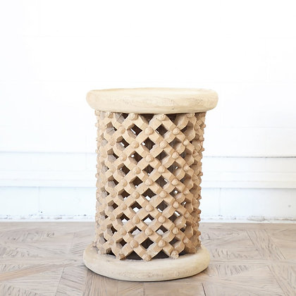CAMAROON BAMILEKE STOOL - SIDE TABLE