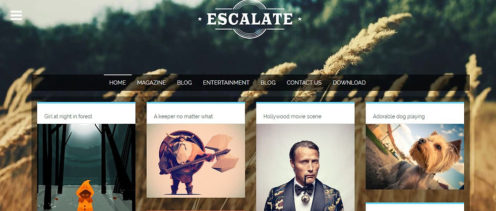 Responsive Blogger Template by esclate