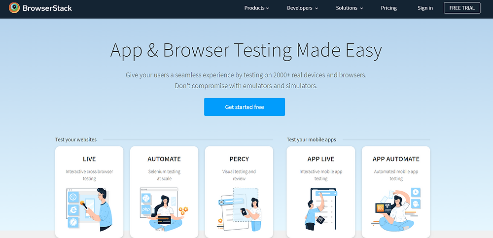 Cross-browser testing By BrowserStack App & Browser Testing made easy