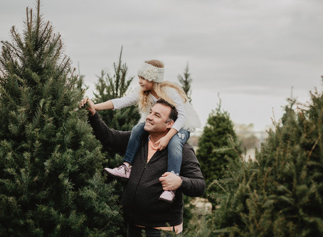 Family Photo Session at Christmas Tree Farm in Roseville, CA - VeTania Photography