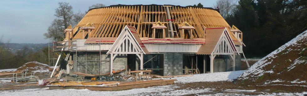 Couverture en ardoise / chantier en cours