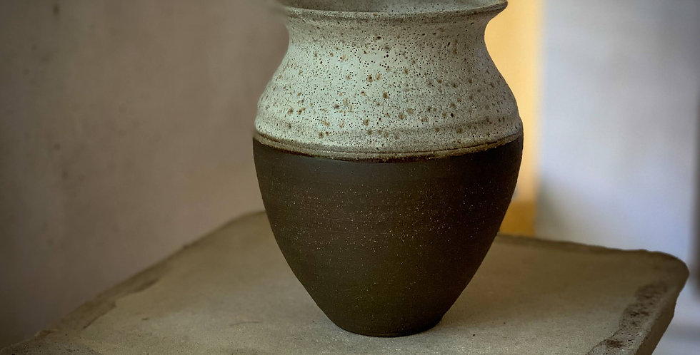 Black volcano vase I