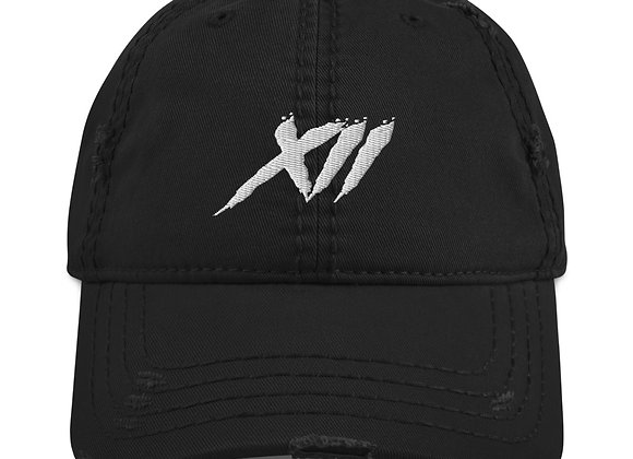 """Distressed """"XII"""" Dad Hat"""