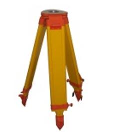 JM-2, koka trijkājis, h=107-170cm, plakana galva