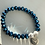 Thumbnail: Blue Electroplated Druzy Graduation Bracelet