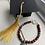 Thumbnail: Burgundy, Gold & Grey Graduation Bracelet