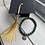 Thumbnail: Green & Gold Bead Graduation Bracelet