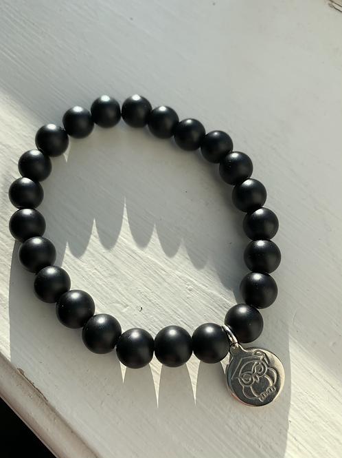 Black Bead Graduation Bracelet