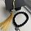 Thumbnail: Black Bead Graduation Bracelet