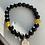 Thumbnail: Black & Yellow Bead Graduation Bracelet