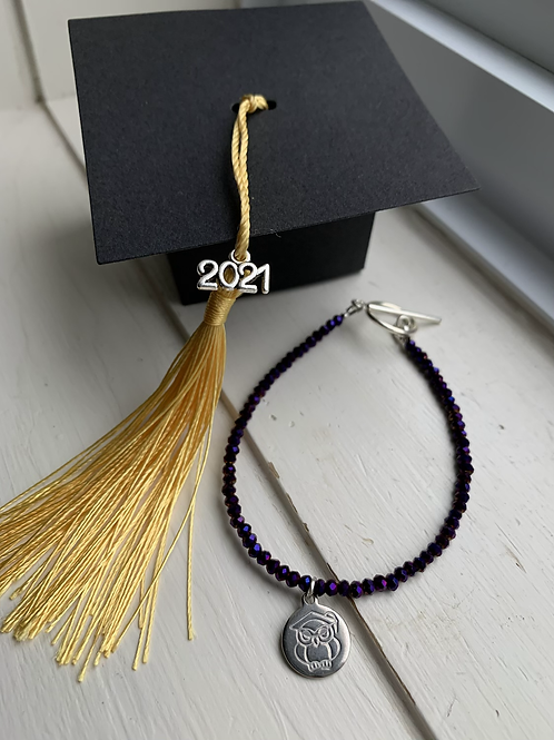 Purple Electroplated Druzy Graduation Bracelet