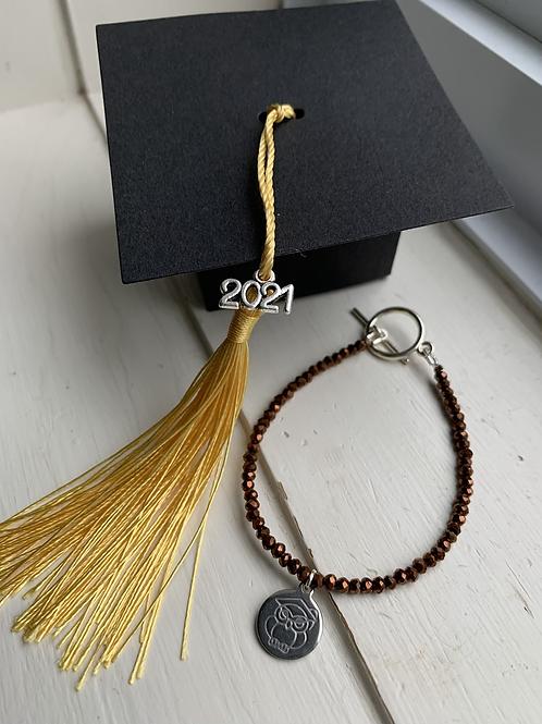 Brown Electroplated Druzy Graduation Bracelet