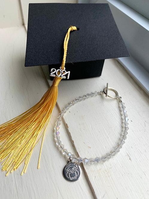 Crystal 2021 Graduation Bracelet