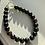 Thumbnail: Blood stone & Black Bead Graduation Bracelet