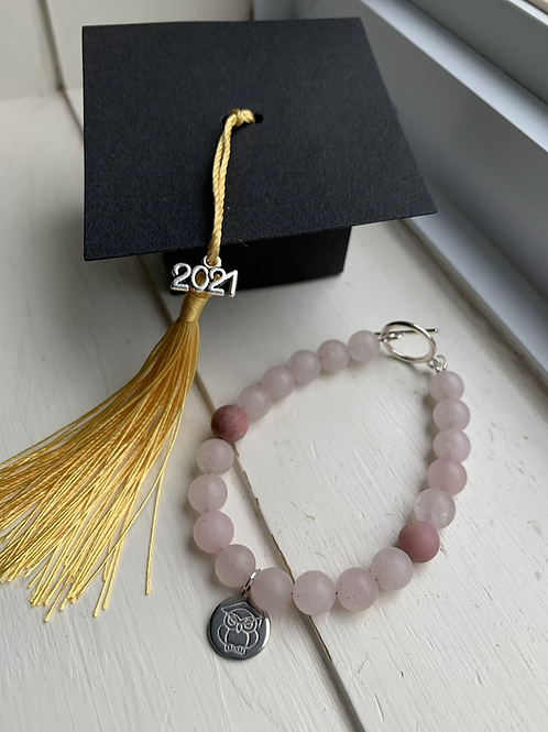 Rose Quartz & Rhodonite Graduation Bracelet